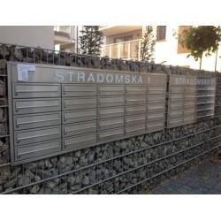 Skrzynki lokatorskie podtynkowe z blendą adresową