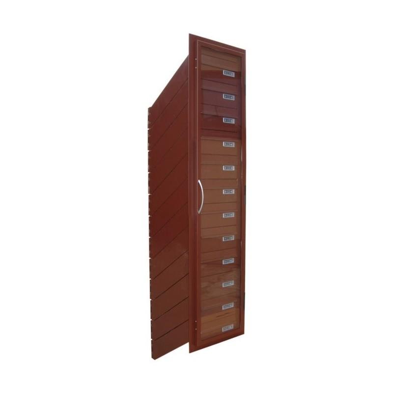 Skrzynki lokatorskie przelotowe skośne z drzwiami