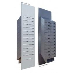 Skrzynki lokatorskie drzwiowe z pojemnikiem na ulotki